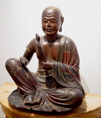Seated Subodai, one of the ten great disciples of Buddha,