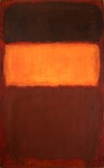 No. 7 (Orange and Chocolate) , Mark Rothko