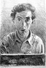 Self-Portrait With Cigarette, Raphael Soyer