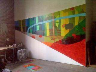 Study for Hahamongna, Los Angeles Studio, Quinton Bemiller