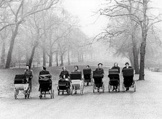 Lord Snowdon: Nannies on Rotten Row, London,