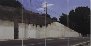 What if walls vanished from the freeway, would it make a sound?,Ruben Ochoa