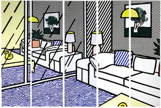 Wallpaper with Blue Floor Interior, Roy Lichtenstein