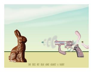bare arms against a rabbit, Terri Lloyd