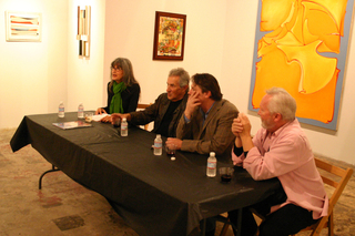 Panel Discussion night for Dorfman/Isham Exhibition,Shane Guffogg, Stanley Dorfman, Timothy Isham, Pat Poncy