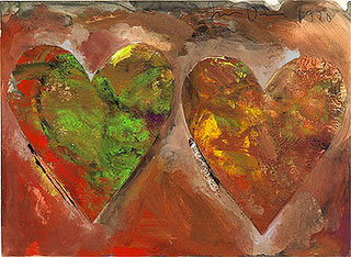 Double Hearts VI, 1970,Jim Dine