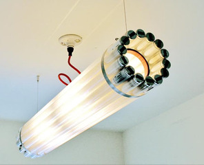 Recycled Light Tube, Castor Design