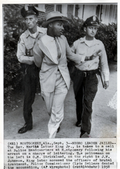 Dr Martin Luther King arrested in Alabama ,
