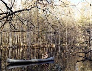 Fool of Moxie in Tin Canoe,Justine Kurland