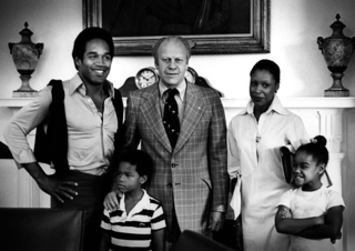 O.J. Simpson and Family with President Ford, David Hume Kennerly