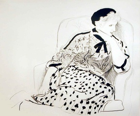 Celia in an Armchair,David Hockney