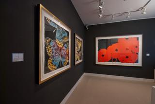installation at Meyerovich Gallery, Donald Sultan