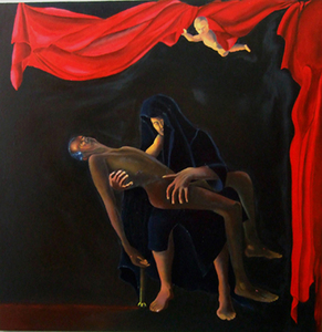Grieving_for_the_injustice_oil_on_canvas_48in_x48in