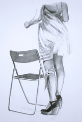 Chair and Legs, Mercedes Helnwein