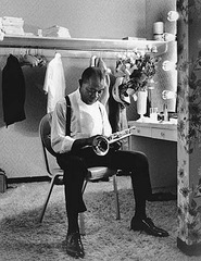 Louis Armstrong, Opening Night, Las Vegas, , Eddie Adams