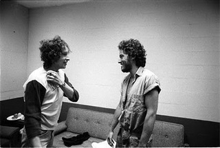 Bob Dylan and Bruce Springsteen Meeting For First Time, Backstage, New Haven, Ct , Ken Regan