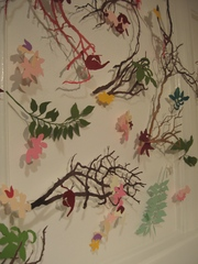 Floral wall installation, Sophia Allison