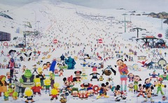 Zhang_gong_skiing_park_acrylic_on_canvas_172x280cm_2009-1