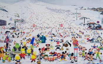 Zhang_gong_skiing_park_acrylic_on_canvas_172x280cm_2009-1