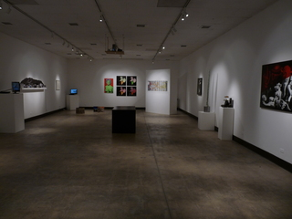 Installation Shot (Ron English, Rachel Lachowicz, Ray Beldner, Vik Muniz, Chris Kubick, Anne Walsh, Ward Shelley, Juan Capistran, Dana Maiden, Yoshua Okon, Artemio),
