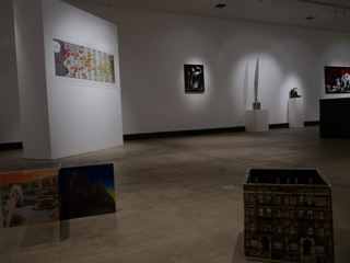 Installation Shot (Juan Capistran, Chris Kubick, Anne Walsh, Ward Shelley, Vik Muniz, Rachel Lachowicz, Ron English, Yoshua Okon, Artemio),