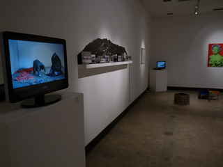 Installation Shot (Yoshua Okon, Dan Maiden, Juan Capistran, Ron English),