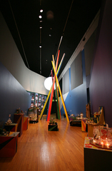 Cutting the Blaze to New Frontiers (installation at Queens Museum of Art),O Zhang