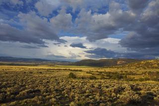 Golden Light across the sage, Jasper Ranch, Walter W. Nelson