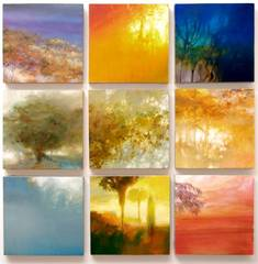 TREES AT DUSK ,Margaret Lazzari
