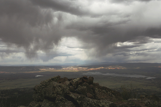 Storm over Ghost Ranch Valley from Pedernal Mt., Walter W. Nelson