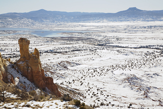 Winte across the Piedra Lumber from Ghost Ranch, Walter W. Nelson