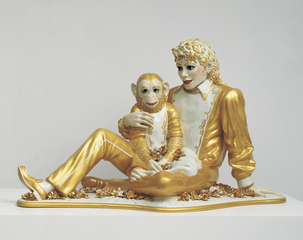 Michael Jackson and Bubbles,Jeff Koons