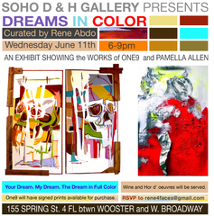 """dreams In Color"" invite, One9 & Pamella Anderson"
