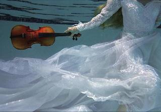 Urban Pools Series #136 (Girl with Violin) , Kenda North