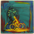 Bicycles__golden_hits___screen_print_and_acrylic_on_record_album__12x12__2009___100