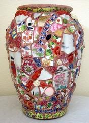 Oriental Mosaic Vase, Peggy Lindstrom