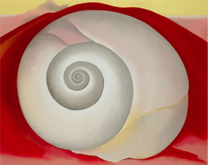 White Shell with Red, Georgia O'Keeffe