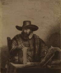 Cornelis Claesz. Anslo, Mennonite Preacher (detail), Rembrandt van Rijn