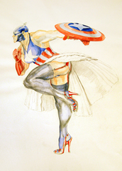 Captain America (2),Margaret Harrison