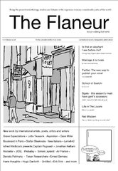 Latest issue, The Flaneur