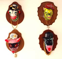 BAST heads - Alien, Cheetah, Pig & Ape, Bast
