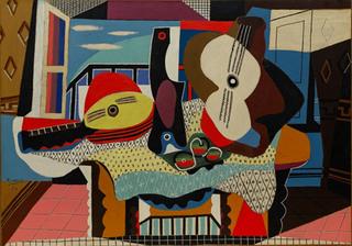 Mandolin and Guitar (Mandoline et guitare), Juan-les-Pins, Pablo Picasso