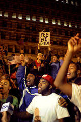 Grant Park, Chicago, Election Night,Steve Schapiro