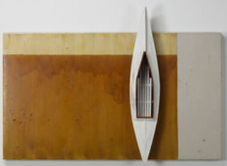 Shellac Board/White Boat, David Ruddell