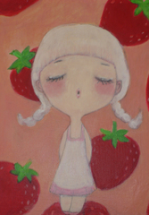 Meet Me at the Strawberry Patch. $150 @ monkeyhouse toys gallery, www.monkeyhousetoys.com, Yuki Miyazaki