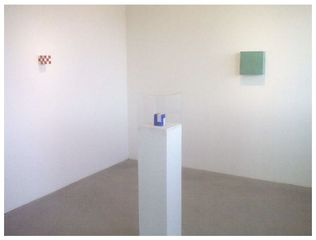 Installation showing new and older works that will be featured in the exhibition.,Stuart Arends