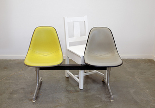 My Slatback Chair with a Pair of Attached Chairs, Roy McMakin