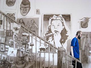 Eric Descending the Staircase, 2009, Allison Cortson