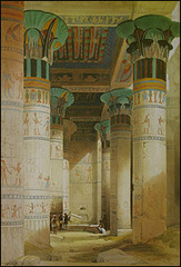 View Under the Grand Portico Philae, David Roberts