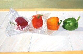 Peppers in plastic, Edgar Soberon